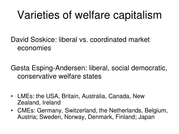 Varieties of welfare capitalism