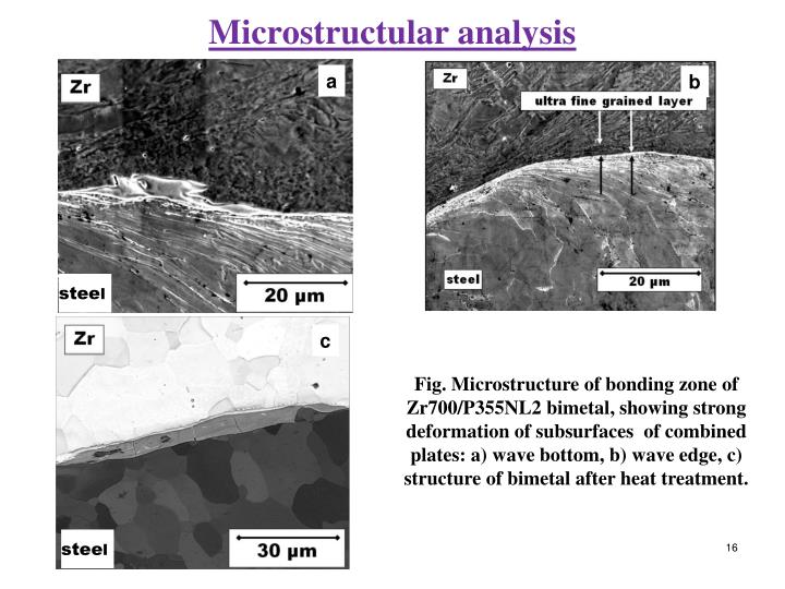Microstructular analysis