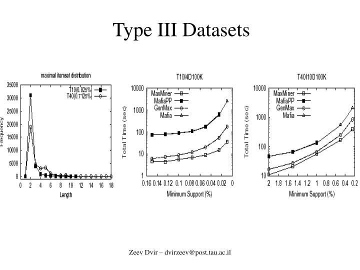Type III Datasets