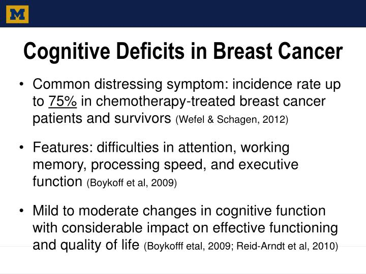 Cognitive Deficits in Breast Cancer