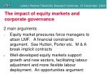 the impact of equity markets and corporate governance