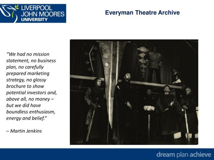 Everyman Theatre Archive