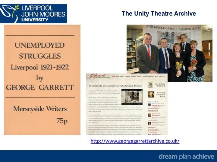 The Unity Theatre Archive