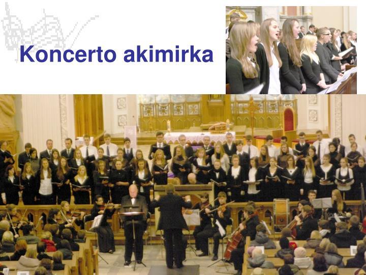 Koncerto akimirka