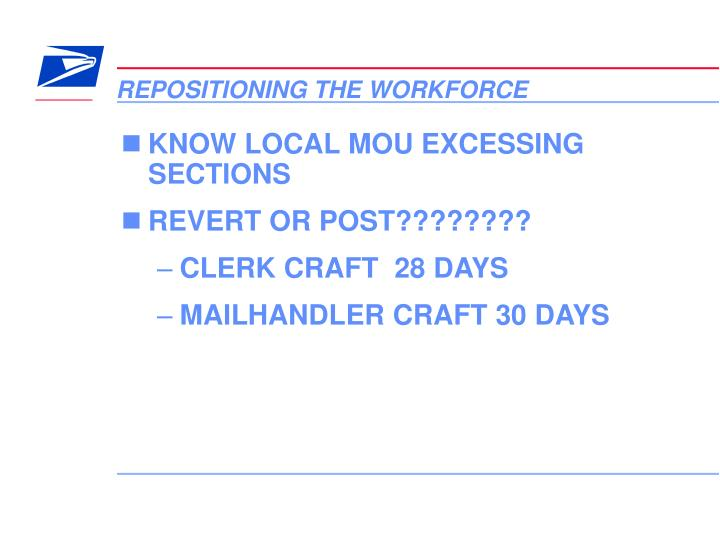 Repositioning the workforce1