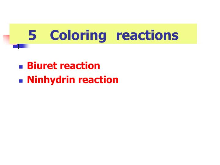 5Coloringreactions