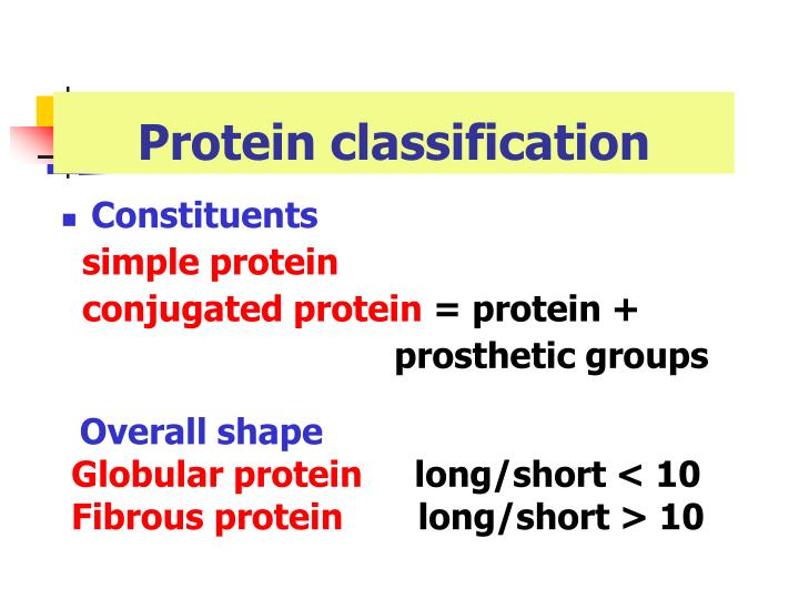 Protein classification