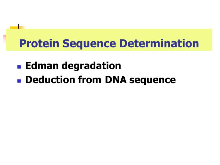 Protein Sequence Determination