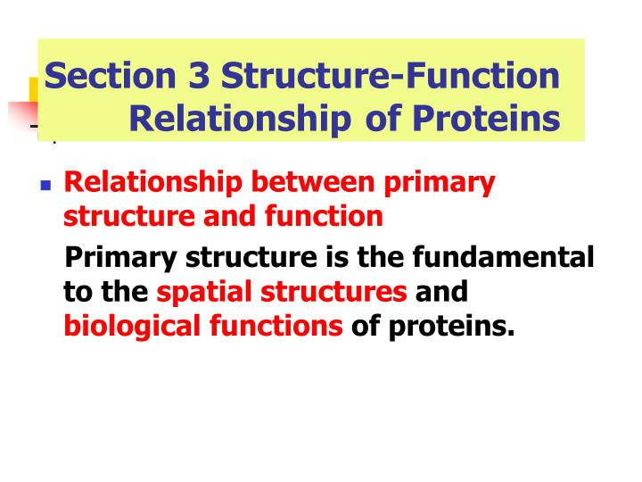 Section 3 Structure-Function