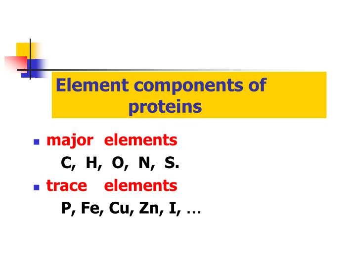 Element components of