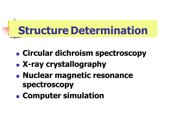 StructureDetermination
