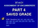 37 4 c1 assignment of encumbereds