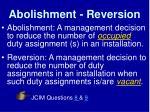 abolishment reversion