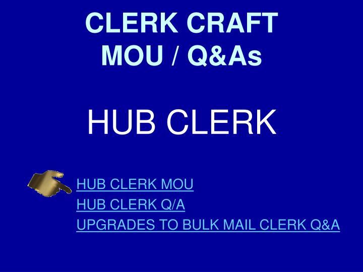 CLERK CRAFT