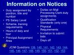 information on notices