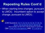 reposting rules cont d