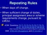 reposting rules