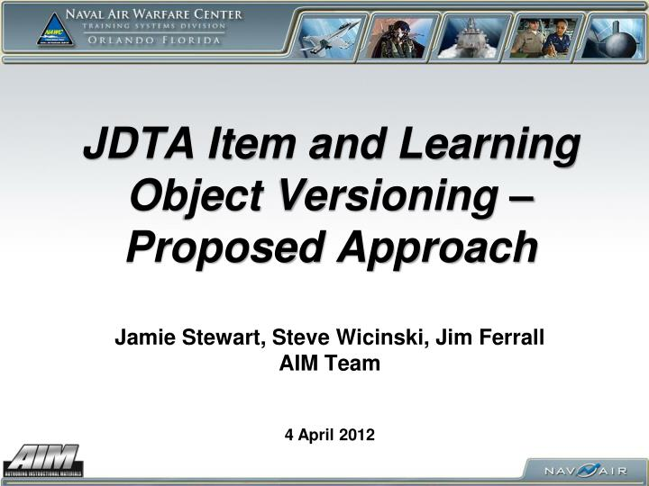 JDTA Item and Learning Object Versioning –Proposed Approach