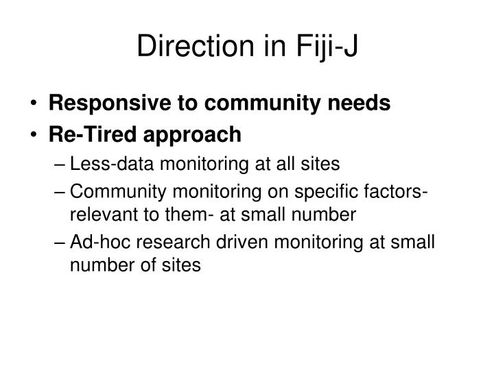 Direction in Fiji-J