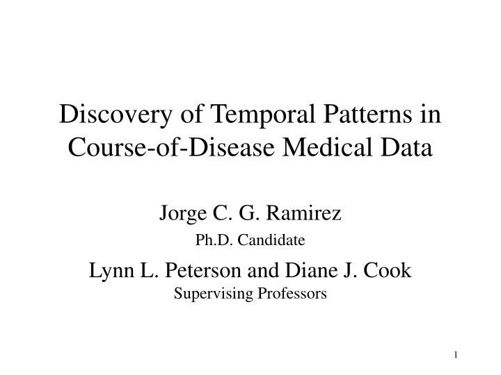 Discovery of temporal patterns in course of disease medical data