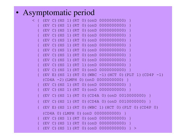 Asymptomatic period