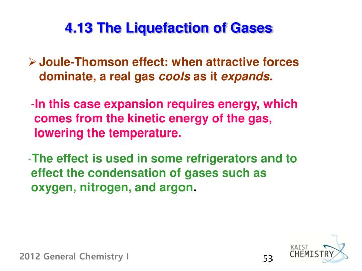 4.13 The Liquefaction of Gases
