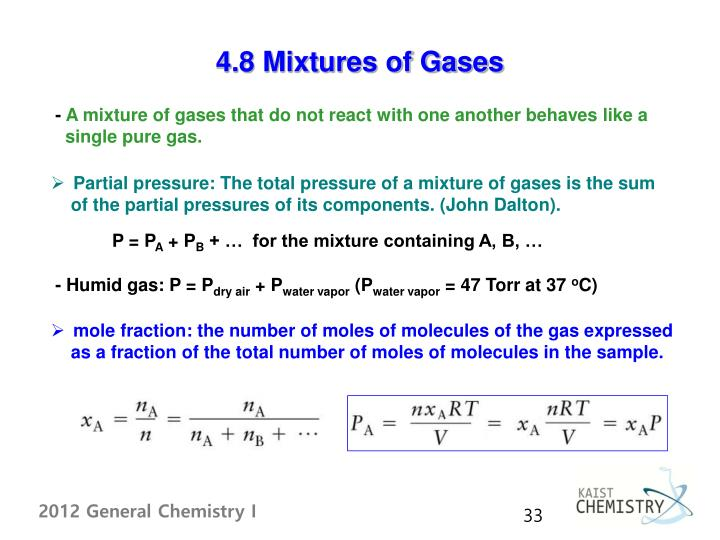 4.8 Mixtures of Gases