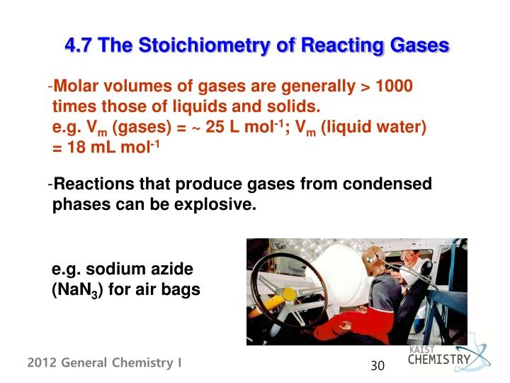 4.7 The Stoichiometry of Reacting Gases
