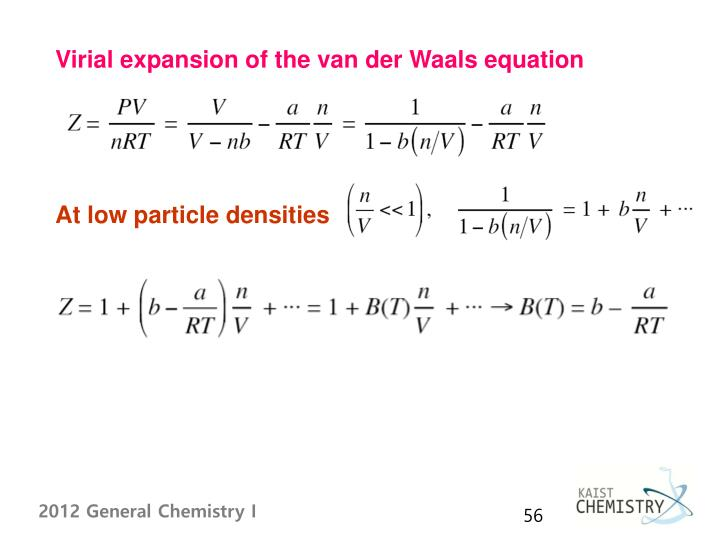 Virial expansion of the van der Waals equation
