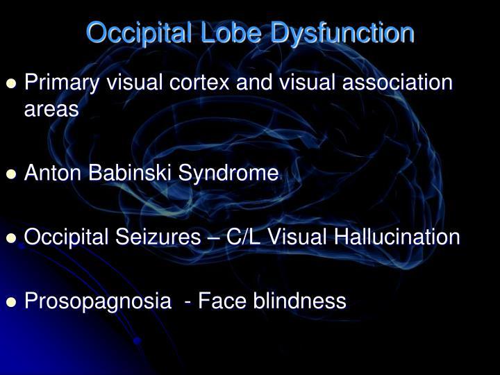 Occipital Lobe Dysfunction
