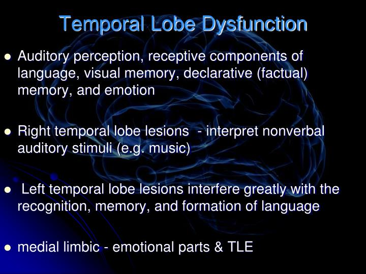 Temporal Lobe Dysfunction