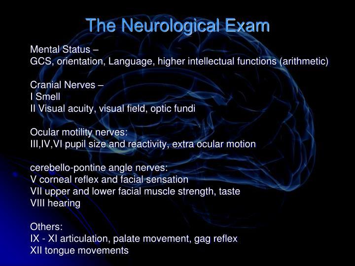 The Neurological Exam