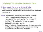 challenge traditional definitions of value1