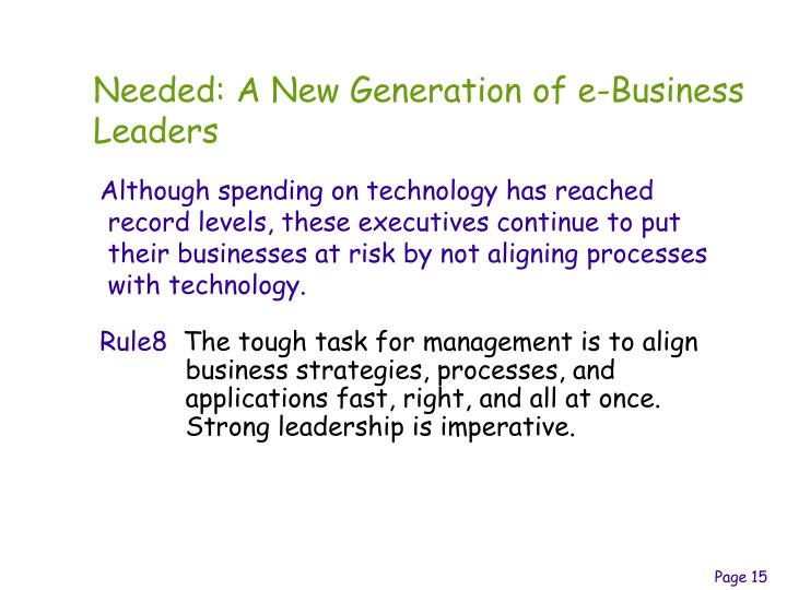 Needed: A New Generation of e-Business Leaders