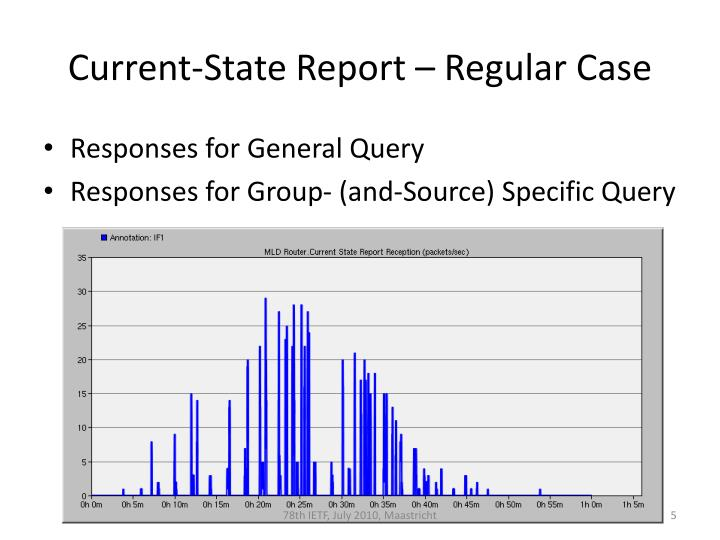 Current-State Report – Regular Case