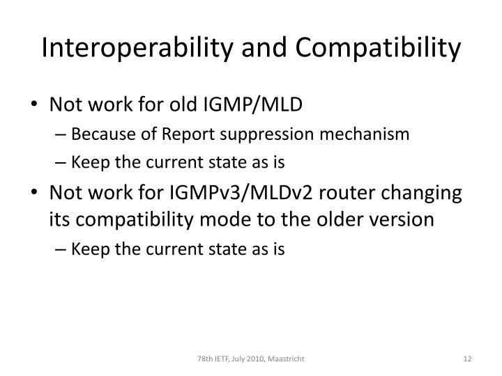 Interoperability and Compatibility