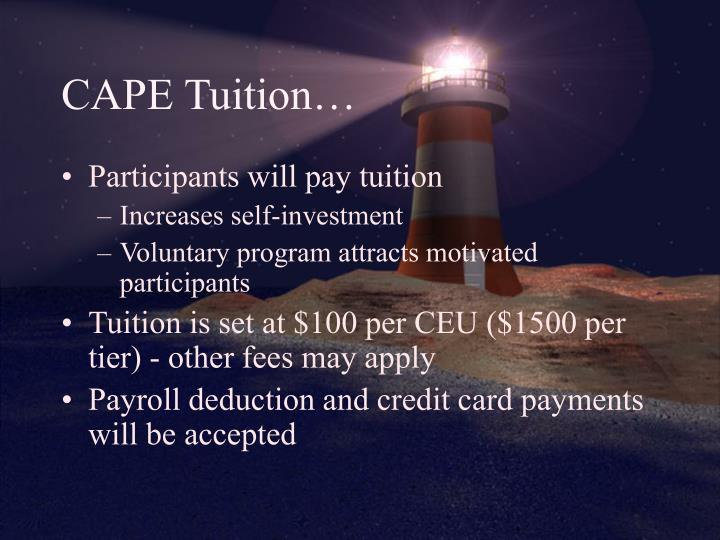CAPE Tuition…