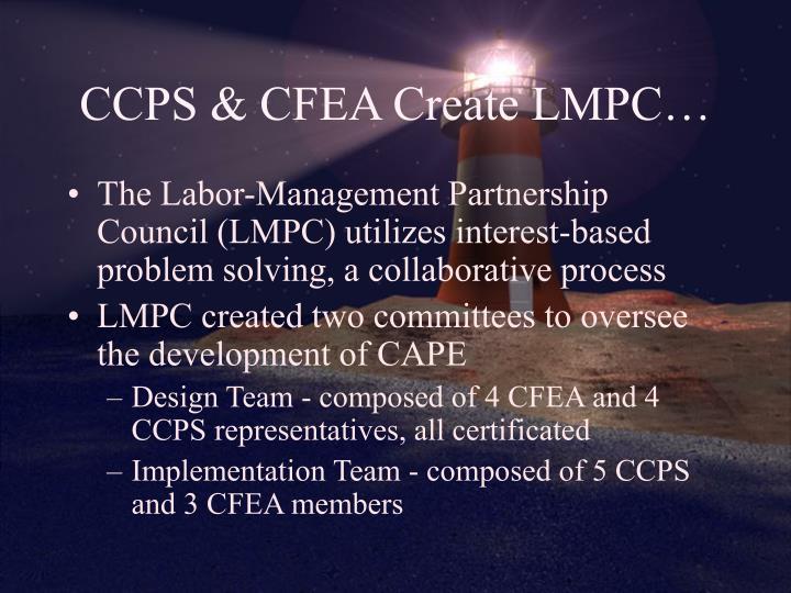 CCPS & CFEA Create LMPC…