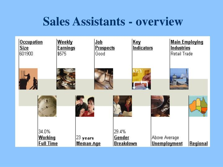 Sales Assistants - overview