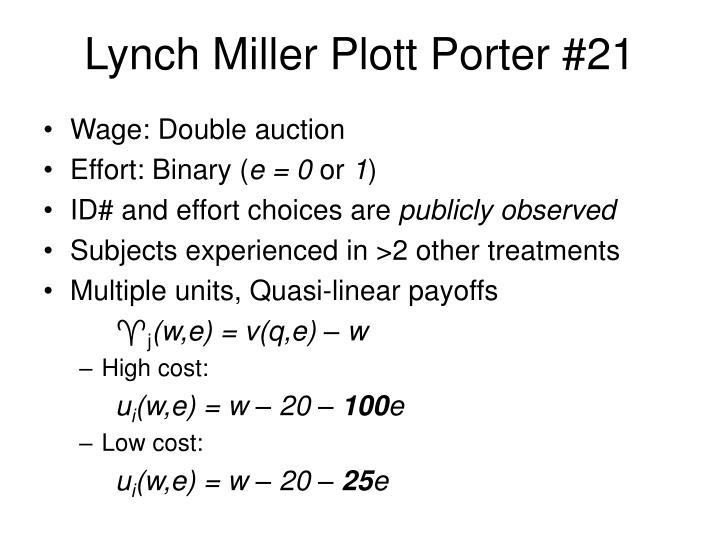 Lynch Miller Plott Porter #21