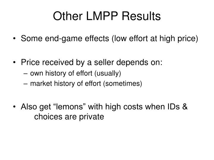 Other LMPP Results