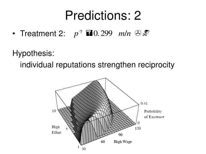 Predictions: 2