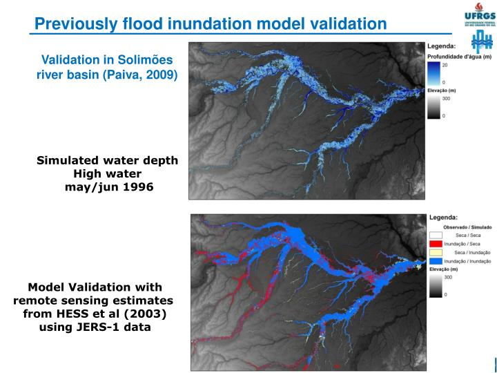 Previously flood inundation model validation