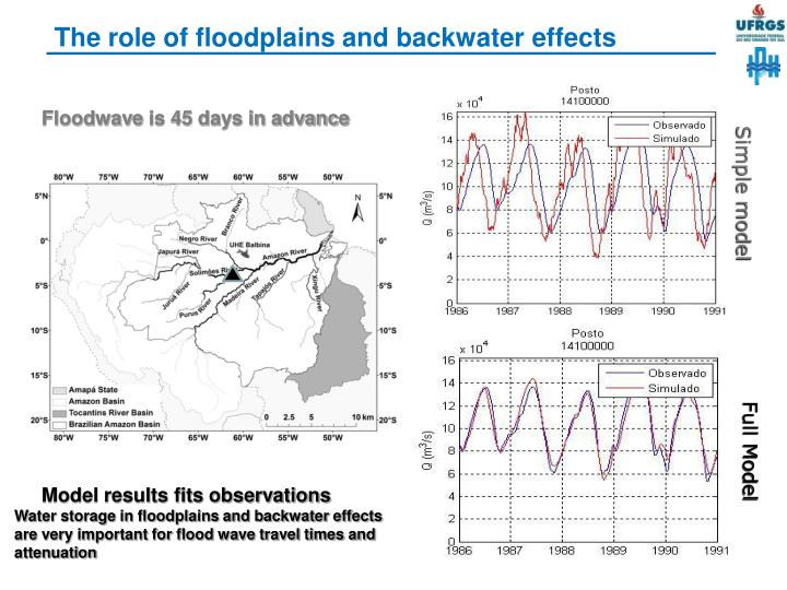 The role of floodplains and backwater effects