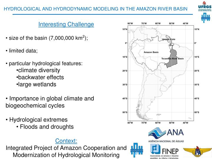 HYDROLOGICAL AND HYDRODYNAMIC MODELING IN THE AMAZON RIVER BASIN