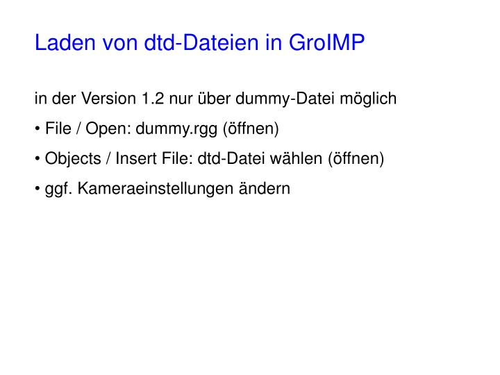 Laden von dtd-Dateien in GroIMP