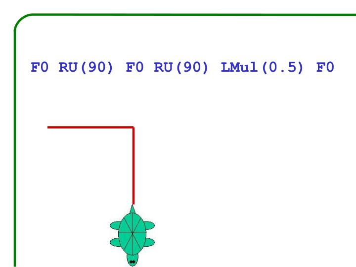 F0 RU(90) F0 RU(90) LMul(0.5) F0