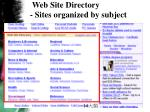 web site directory sites organized by subject