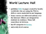world lecture hall
