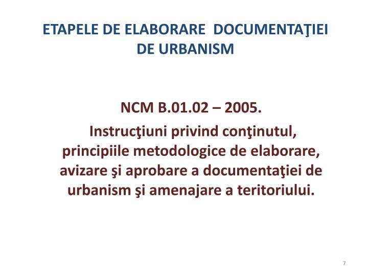 NCM B.01.02 – 2005.